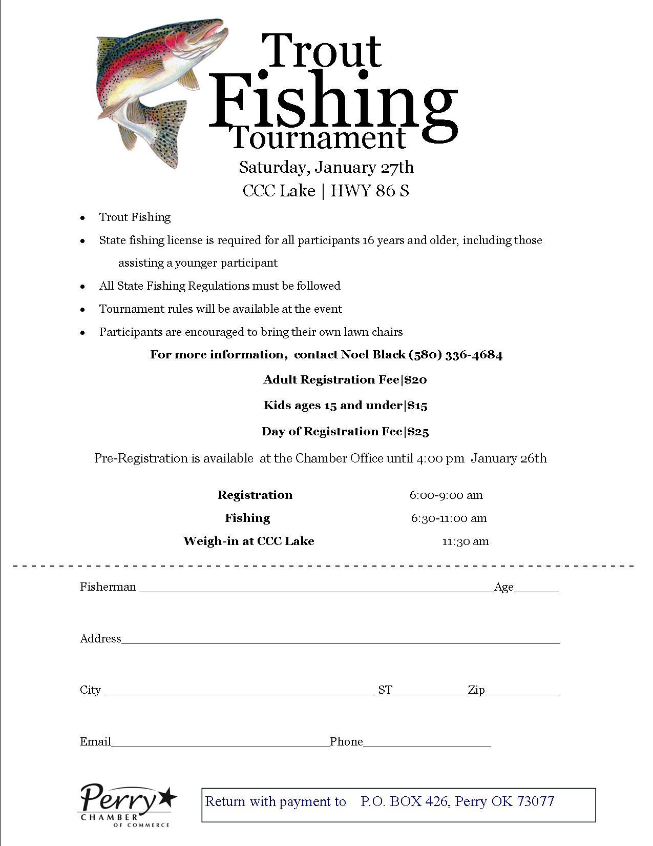 Fishing Tournament Registration